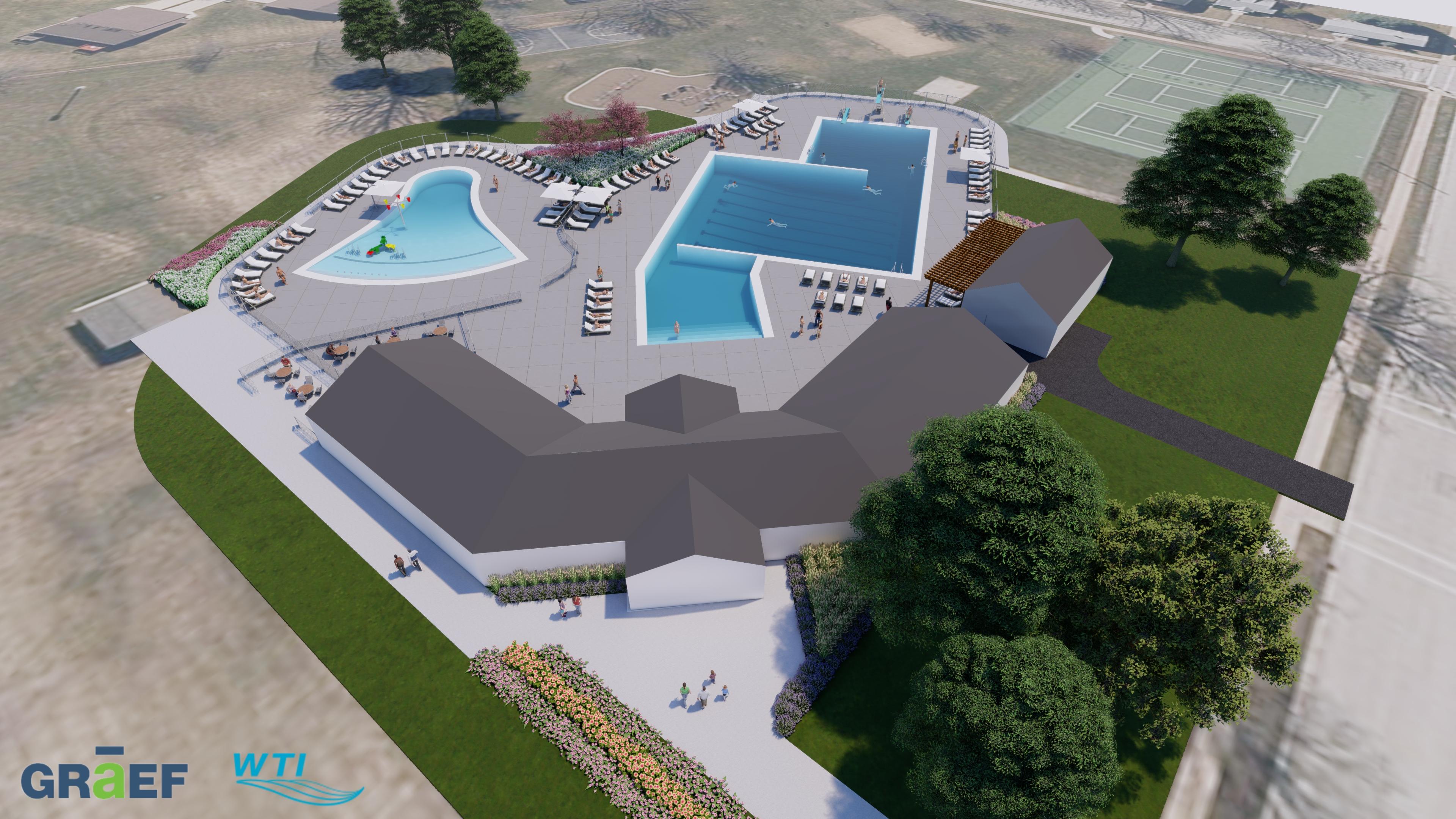 Slideshow Legion Aquatic Facility Renderings De Pere Wisconsin